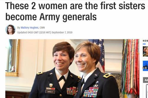 244年来首例 美国陆军将领中出现一对亲姐妹