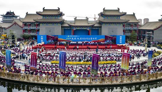 书画频道进万家走进甘肃张掖暨敦煌写经艺术节举办