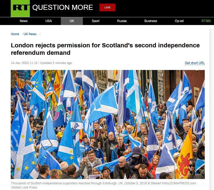 希望破灭?苏格兰要搞2次独立公投被约翰逊拒了