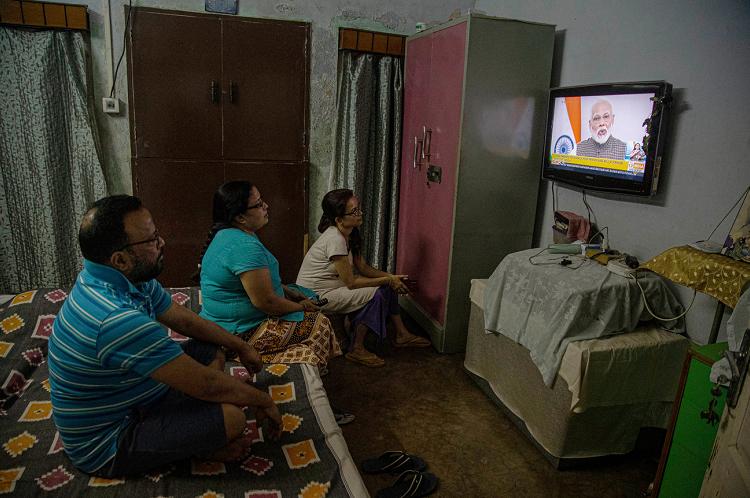疫情防控期间 印度电视收视创历史记录